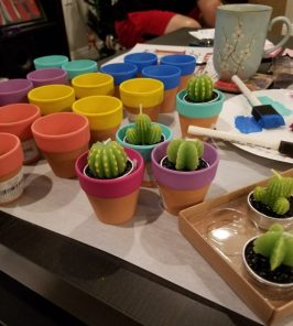 Painting Pots for Favors
